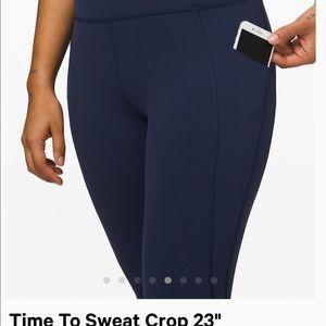 lululemon athletica Pants - Navy Lululemon Time to Sweat leggings